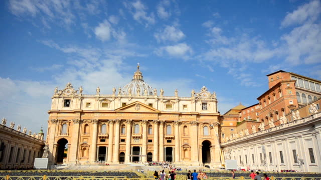 St. Peter's Square , Vatican, Rome, Italy. video