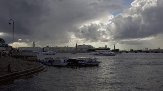 St. Petersburg St. Petersburg waterfront timelapse sorpresa stock videos & royalty-free footage