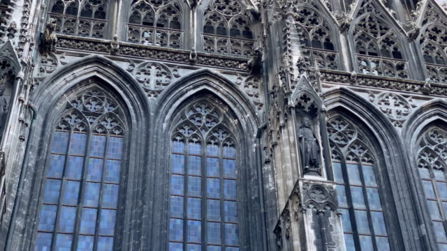 St. Stephens Cathedral Vienna Video 4k with stabilization: St. Stephens Cathedral in Vienna neo gothic architecture stock videos & royalty-free footage