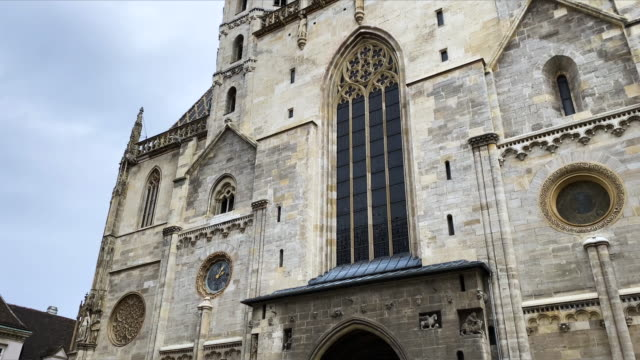 St. Stephen's Cathedral Vienna Video 4k with stabilization: St. Stephens Cathedral in central Vienna neo gothic architecture stock videos & royalty-free footage