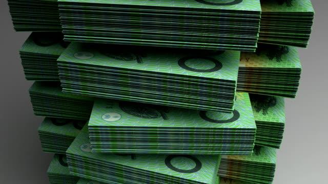 Stack of Australian Dollar video
