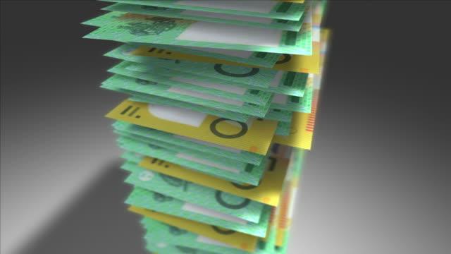 Stack of Australian Dollars. video