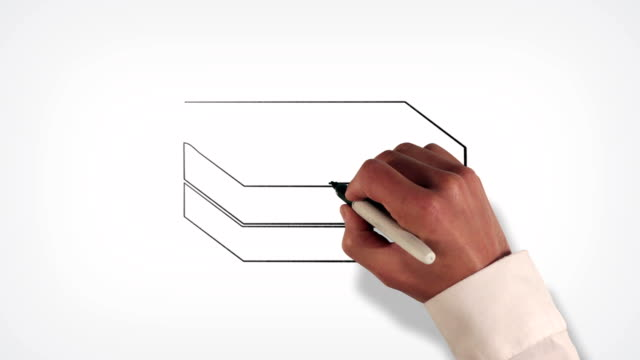 Stack of Bills Money Whiteboard Stop-Motion Style Animation video