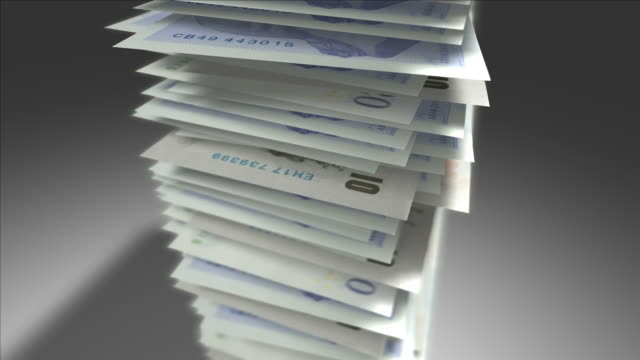 Stack of British Pounds. video