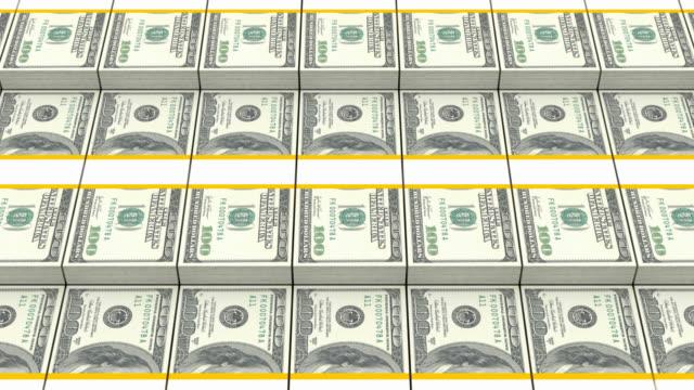 Stack of Dollar Bills video