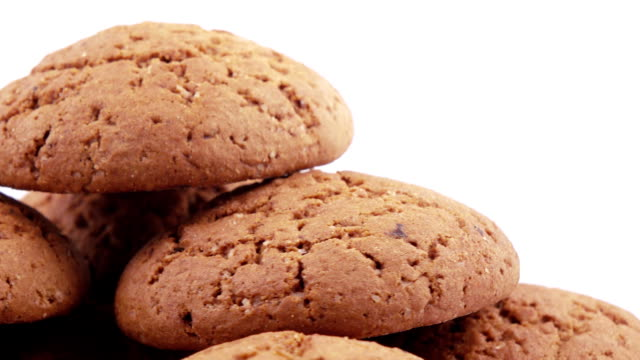 Stack of oatmeal cookies video