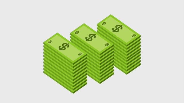 stacked banknote dollar currency bank