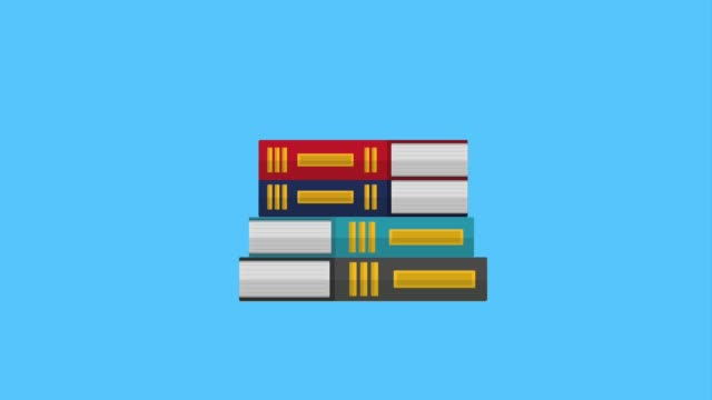 stacked books magnifying glass search education video