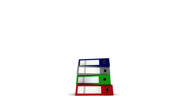スタックドリングバインダー - ファイル点の映像素材/bロール
