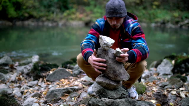 Stacking stones video