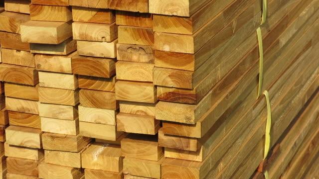 Stacks of wood video