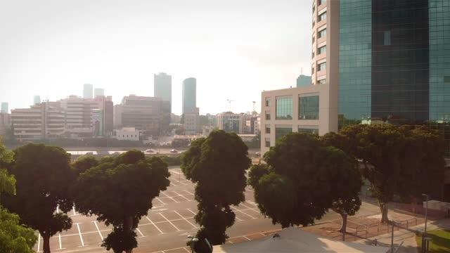 Stadium And skate park in tel aviv Aerial
