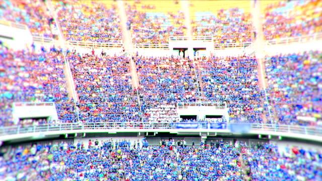 Stadium Crowd Doing The Wave.