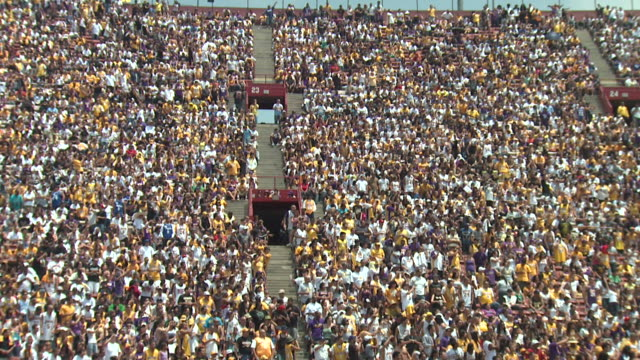 HD Stadium Crowd Doing Wave