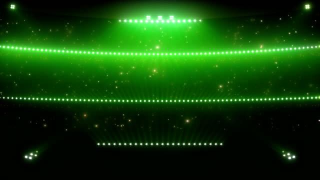 Stadium floodlights. Green. video