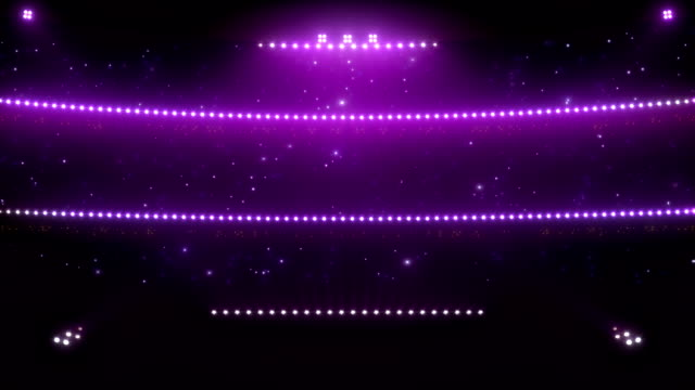Stadium floodlights. Purple. video