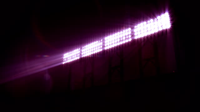 Stadium Floodlights, with sound. Purple. video