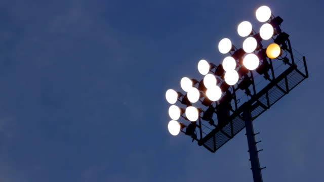 Stadium Lights Blue Sky video
