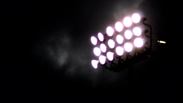 stadion lichter zeitraffer - highschool sport stock-videos und b-roll-filmmaterial