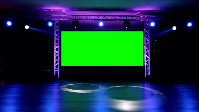 stockvideo's en b-roll-footage met stage and lights  before show - redenaar