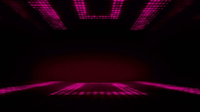 stage club led lighting dance background. seamless loop.