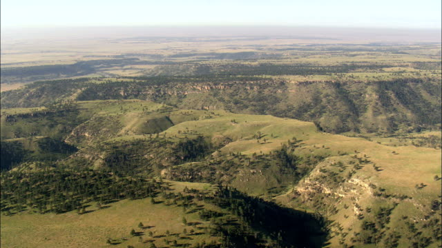Stage Coach Road  - Aerial View - South Dakota, United States video