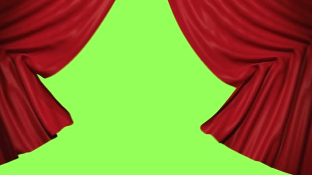 vídeos y material grabado en eventos de stock de apertura de la cortina de escenario. aislado con luma mate alfa render 3d - cortina