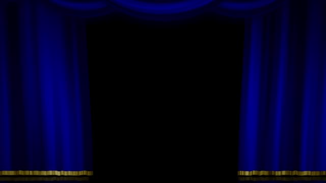 Stage Curtain Zoom blue
