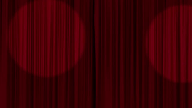 Stage Curtains Opening with Alpha Matte