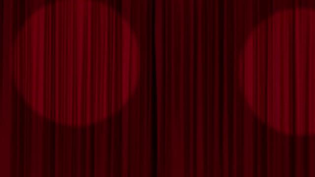 vidéos et rushes de ouverture des rideaux de scène avec alpha matte - rideaux