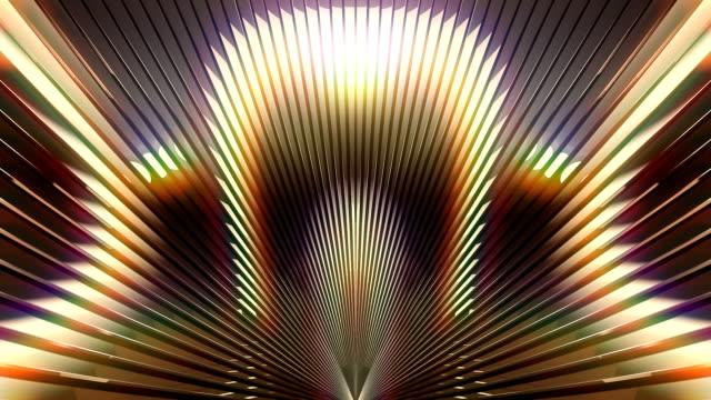 vj stage gold background - узор калейдоскоп стоковые видео и кадры b-roll