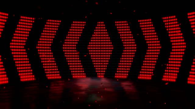 vídeos de stock, filmes e b-roll de palco levou dança leve - 4k qualidade - vídeo de estoque loop sem costura - led