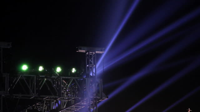 Stage light in concert. video