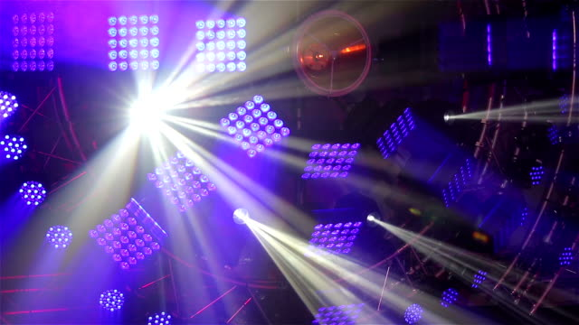 Stage light show. video