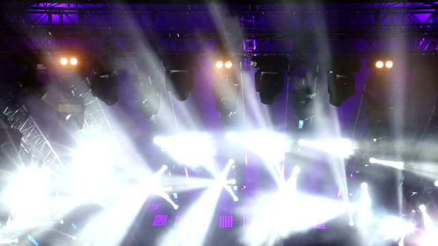 Stage lights on concert. video