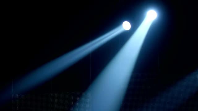 stage lights scene footage - riflettore lenticolare video stock e b–roll