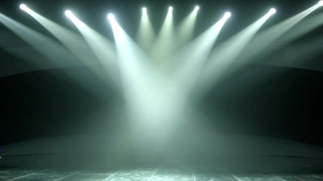 Stage Lights Scene Footage video