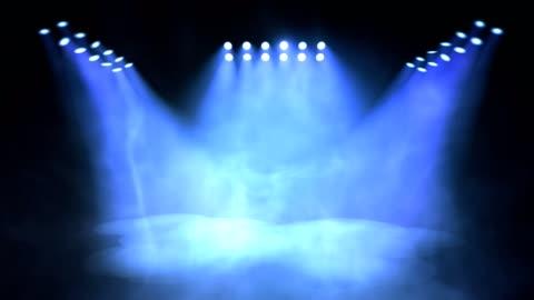 vídeos y material grabado en eventos de stock de encendido y apagado de iluminación del escenario. animación bucle sin fisuras. - luz