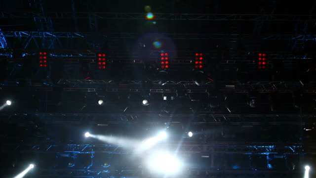 Stage lights video