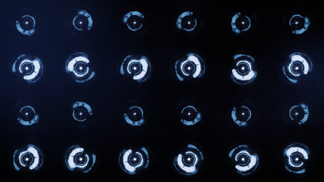 stage lights, with sound. blue. close-up. - 射燈 個影片檔及 b 捲影像