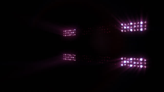 Stage lights, with sound. Purple. video