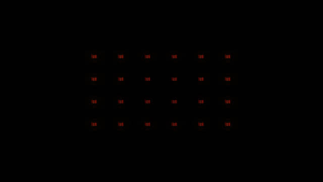 Stage lights, with sound. Square. Amber. video