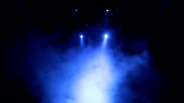 Stage special effects. Theatrical smoke. The spotlight on the stage of the theatre during the performance video