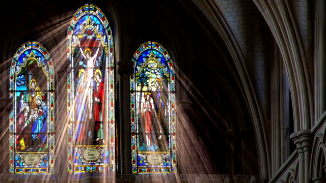 stained glass light rays - christening stock videos and b-roll footage