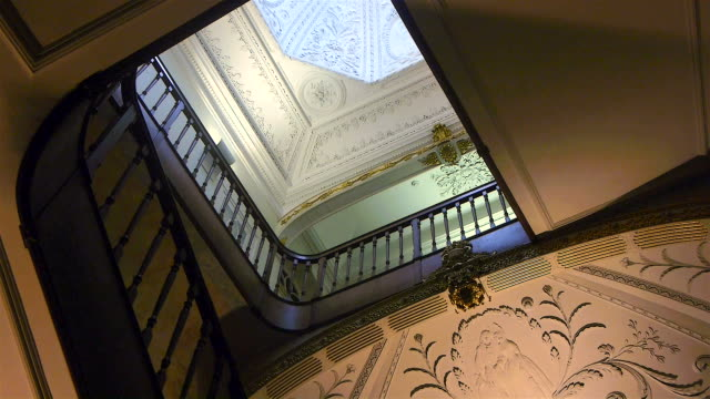 Stairs from manor house video
