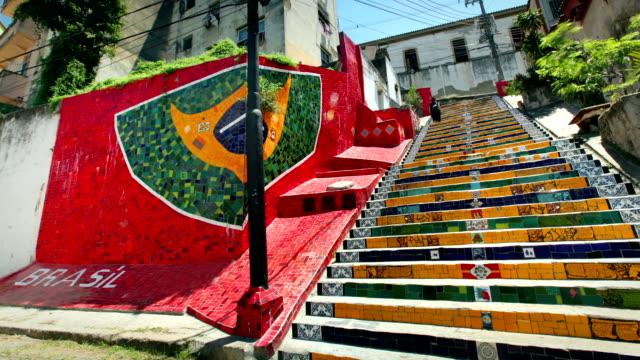 Stairway Selaron, Rio de Janeiro, Brazil video