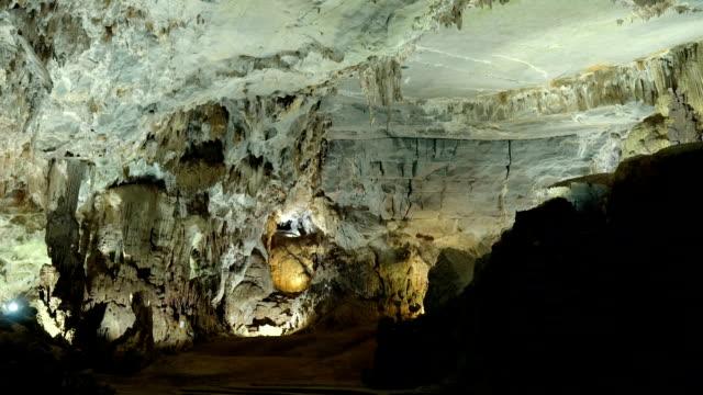 Stalactites and stalagmites at Phong Nha Cave