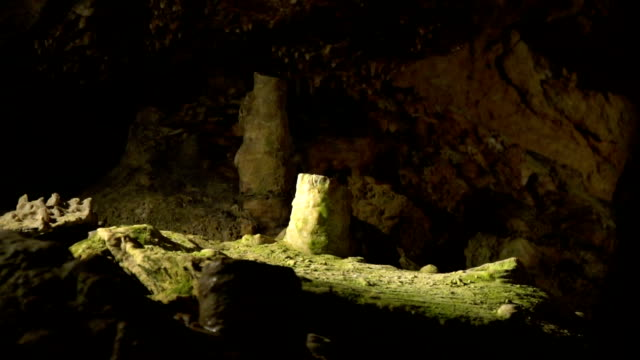 Stalagmiten in der Höhle, Nahaufnahmen – Video