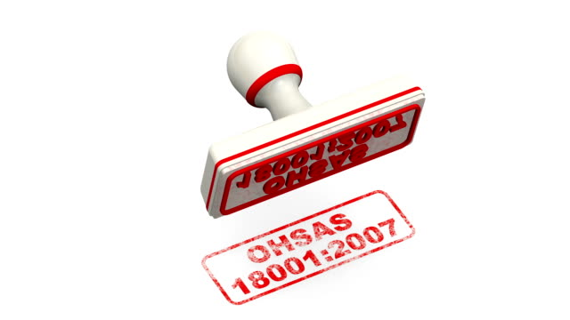 OHSAS 18001:2007. Stamp leaves a imprint video