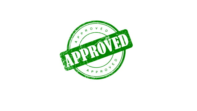 APPROVED stamp Hand presses an APPROVED stamp. Contains matte. stamp stock videos & royalty-free footage